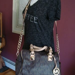 Michael Kors Grayson Signature Monogram MD Satchel